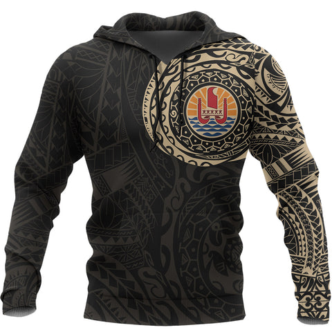 French Polynesia Custom Hoodie Tattoo Style A7
