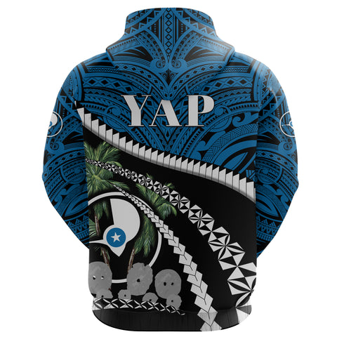 Image of Yap Stone Money Zip Up Hoodie - Road to Hometown K8