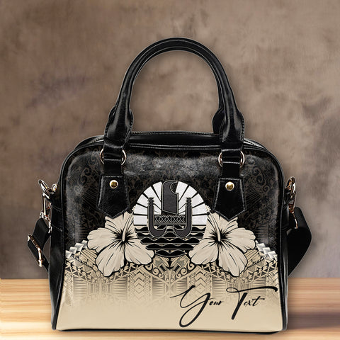 (Custom) Tahiti Shoulder Handbag Hibiscus Personal Signature | Special Custom Design