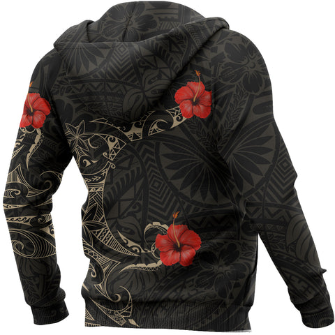 Polynesian Hibiscus Hoodie Tattoo Style A7