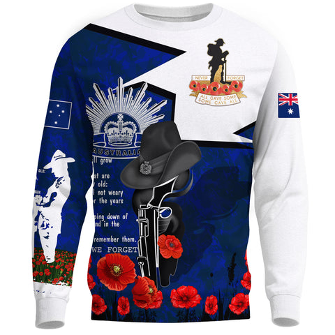 Image of Australia Sweatshirt Anzac Lest We Forget A7