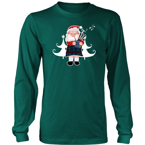Scottish Bagpipe Santa - Scotland Long Sleeve Tee A0