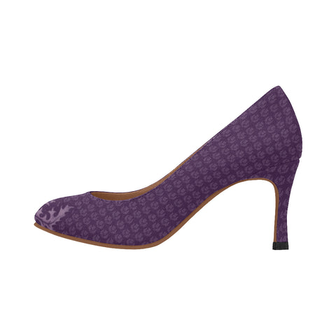 Scotland Heel - Purple Thistle A9 |Footwear| 1sttheworld