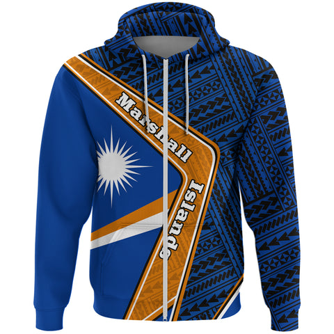 Marshall Islands Zip Hoodie - Polynesian Coat Of Arms | Love The World