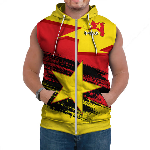 Tigray Flag And Map Special Sleeveless Hoodie A27