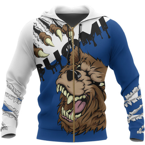 Image of Finland - Brown Bear Special Zip Hoodie | Clothing | Love the World