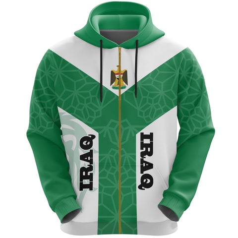 Image of Iraq Rising Zipper Hoodie A10