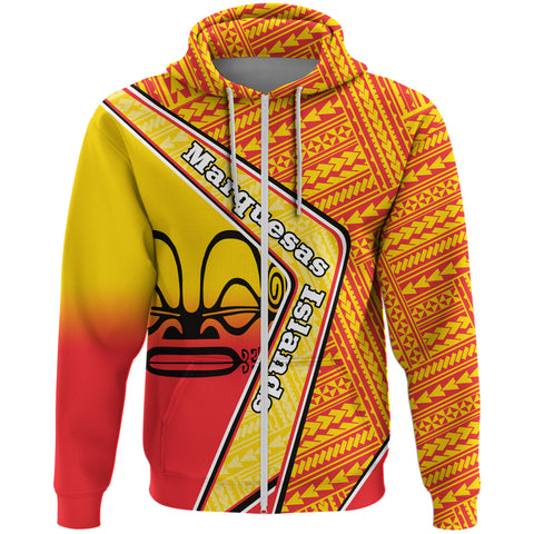 Marquesas Islands Zip Hoodie - Polynesian Coat Of Arms | Love The World