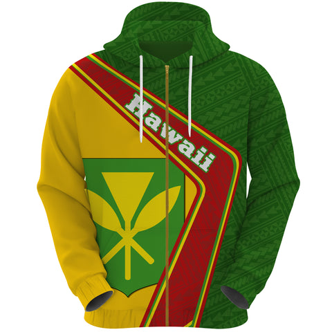 Hawaii Zip Hoodie - Polynesian Coat Of Arms | Love The World