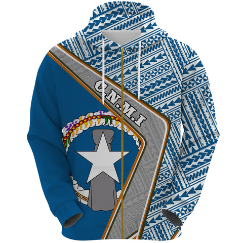 Northern Mariana Islands Hoodie - Polynesian Coat Of Arms | Love The World