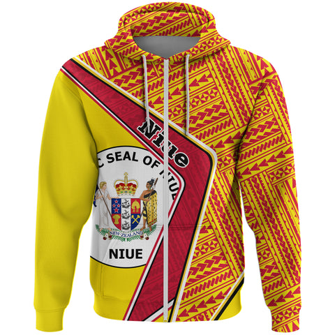 Niue Zip Hoodie - Polynesian Coat Of Arms | Love The World