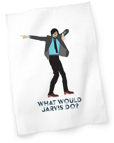 'What Would Jarvis Do' Tea Towel