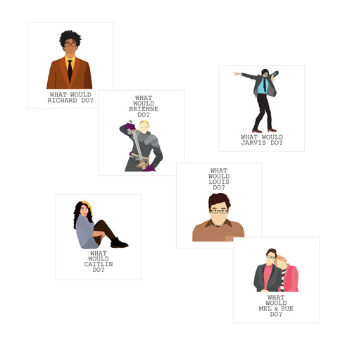 'What Would They Do?' Multipack Greeting Card Set