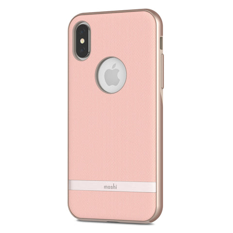moshi Vesta Hardshell Case for iPhone XS / X - Blossom Pink
