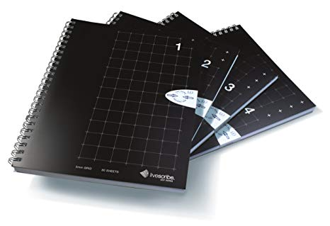 Livescribe 4-Pack of A5 Spiral Bound Notebooks