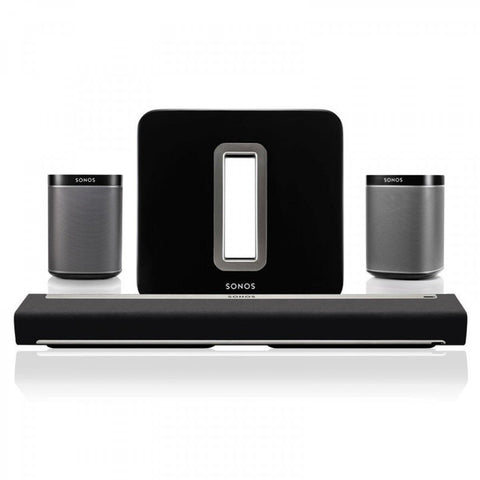 SONOS Package - Playbar + Play 1-Pair + & PlaySub - Black