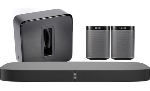 SONOS PACKAGE - PLAYBASE + PAIR OF PLAY 1 & PLAYSUB - BLACK