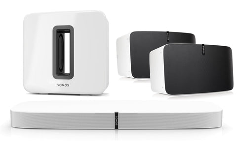 SONOS Package - Playbase +  Pair of Play 5 & Playsub - White