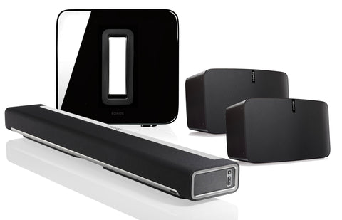 SONOS Package - Playbar + Play 5-Pair + & PlaySub - Black