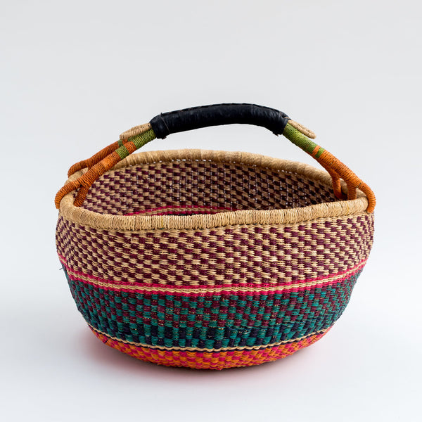 Ghanian bold basket large pink tilly and cub