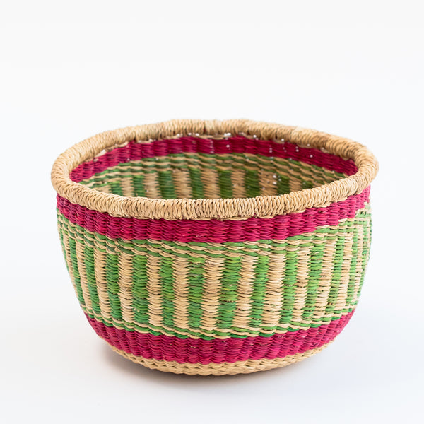 Tilly and cub planter basket handwoven in West Africa