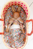 toy mini moses basket tilly and cub liberty print
