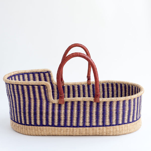 hand woven colourful moses basket tilly and cub