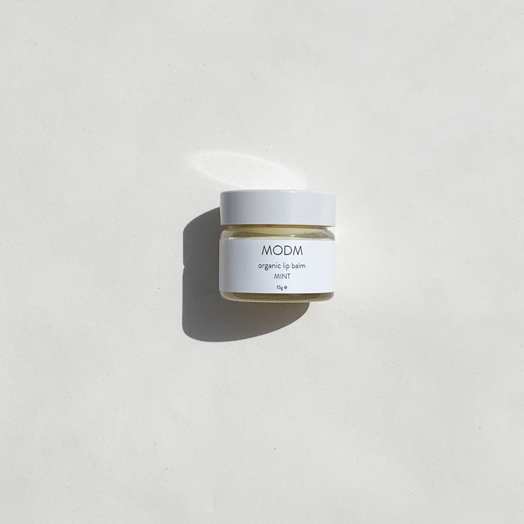 MODM Organic Lip Balm - Mint 15ml