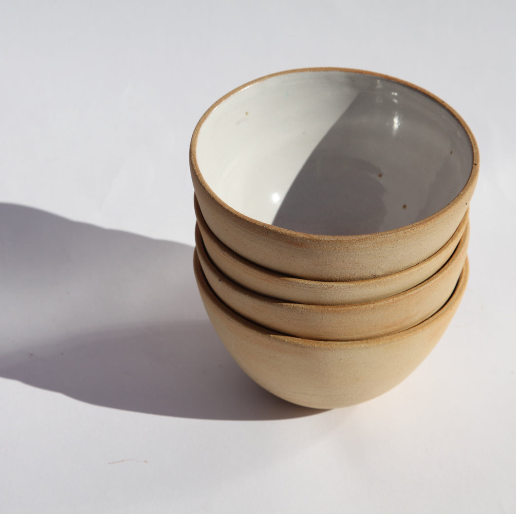 Ceramic Fluted Bowl by Cara Guthrie
