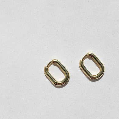 Rhea Small Square Oval Earrings G