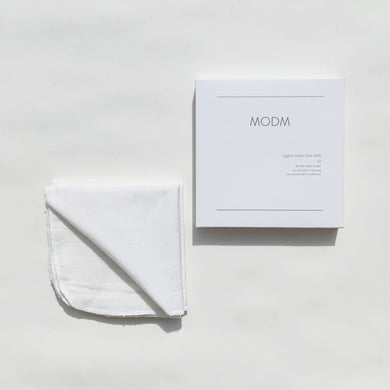 MODM Organic Double  Sided Cotton Face Cloth x 3