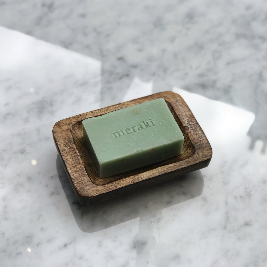 meraki green seaweed soap bar - The Method