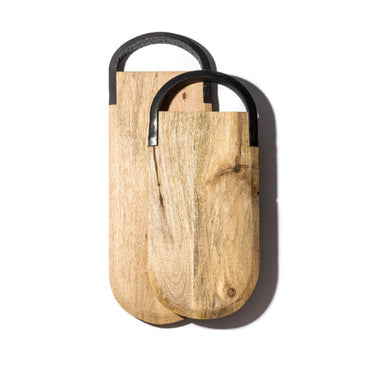 Mango Wood with Black Rubber Handle