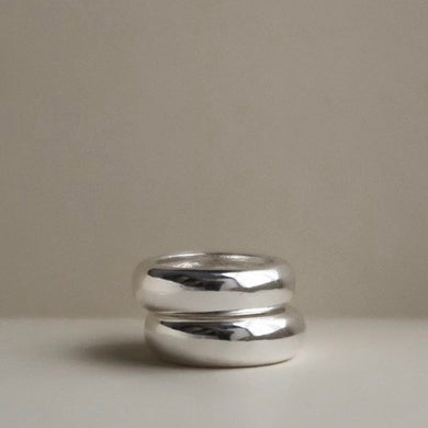 Alma Stack Rings  - Silver