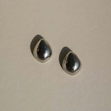 Lunis Dome Earrings  -  Silver