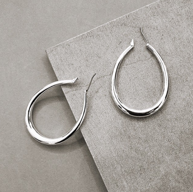 Tilda Hoop Earrings - Silver