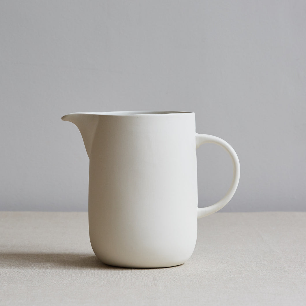 White Ceramic Water Jug