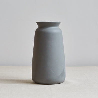 Tall Dark Grey Ceramic Vase