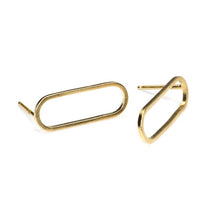 Ellipse Stud Earrings