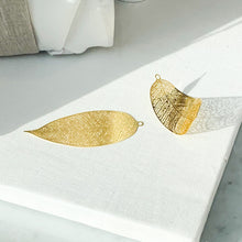 Gold-Plated Leaf Decoration for Tree/Gifts