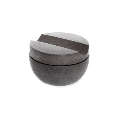 Dark Grey Concrete Shaving Cup + Shave Soap Bar