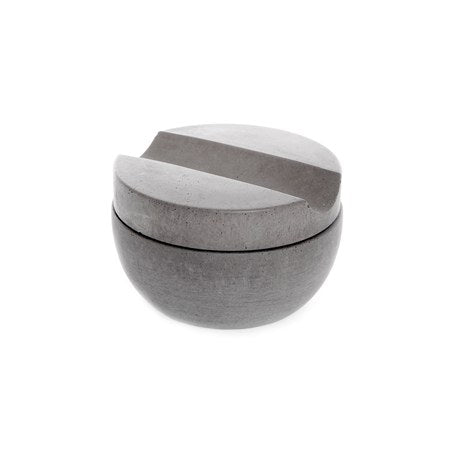 Light Grey Concrete Shaving Cup + Shave Soap Bar