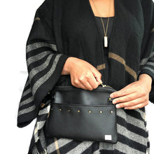Lily Fanny Pack - Black vegan leather/ Texture
