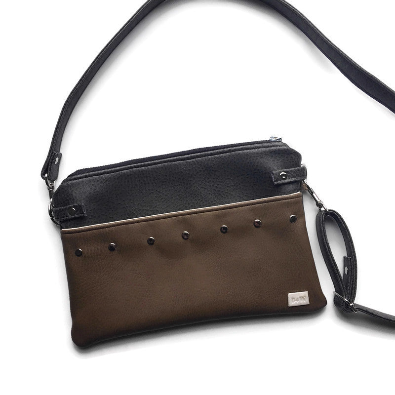 Lily Fanny Pack - Steel + Brown