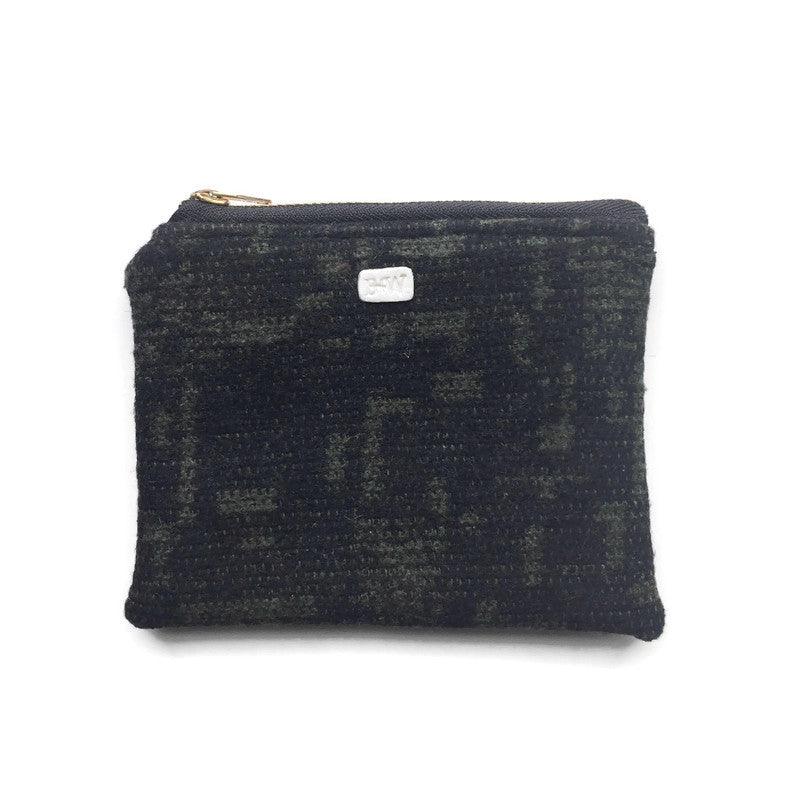 Carry All Mini Zipper Pouch - Green/Black