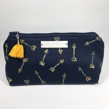 Mustard arrow print mini bag