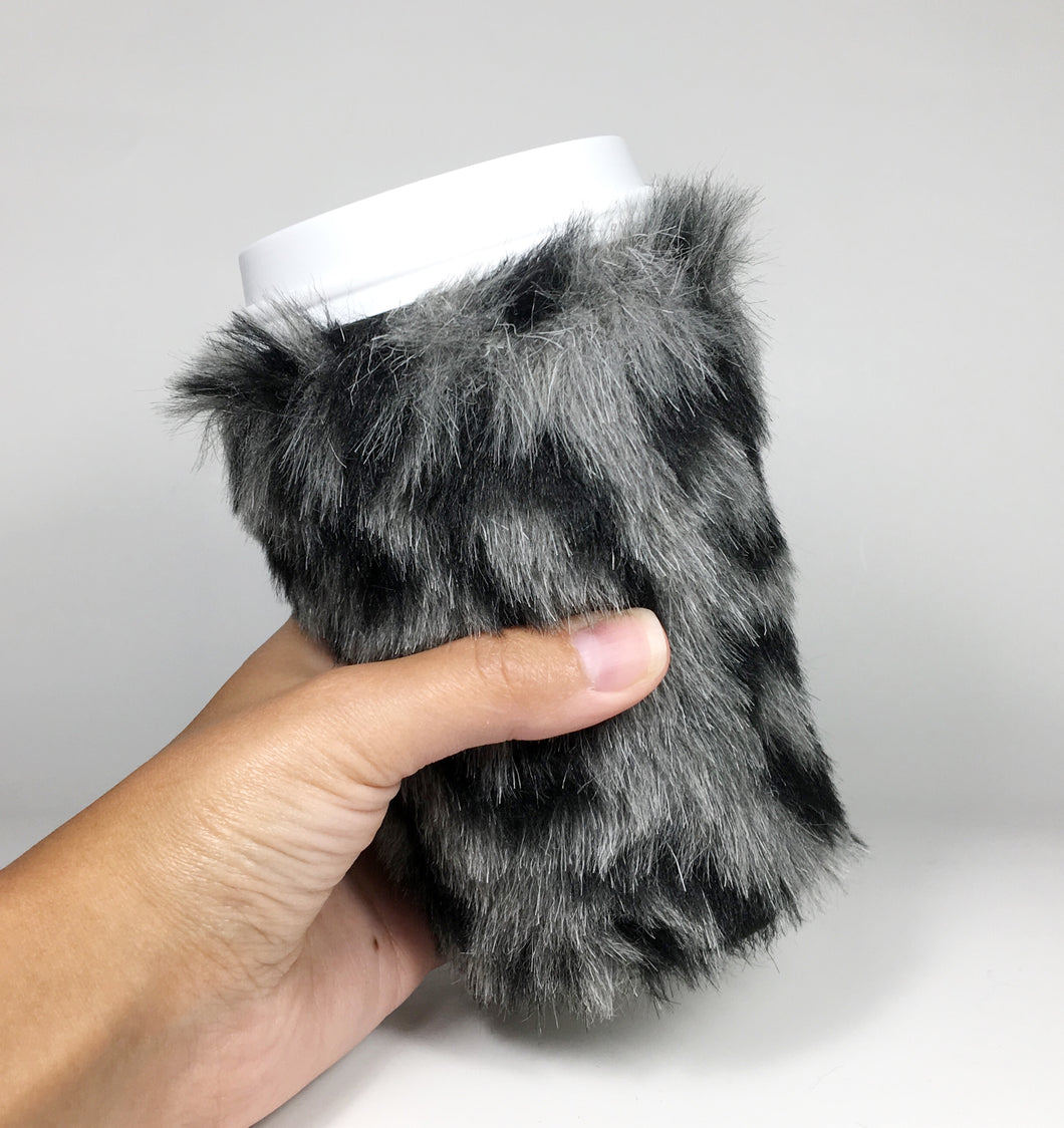 Faux Fur Insulated Coffee Hugger