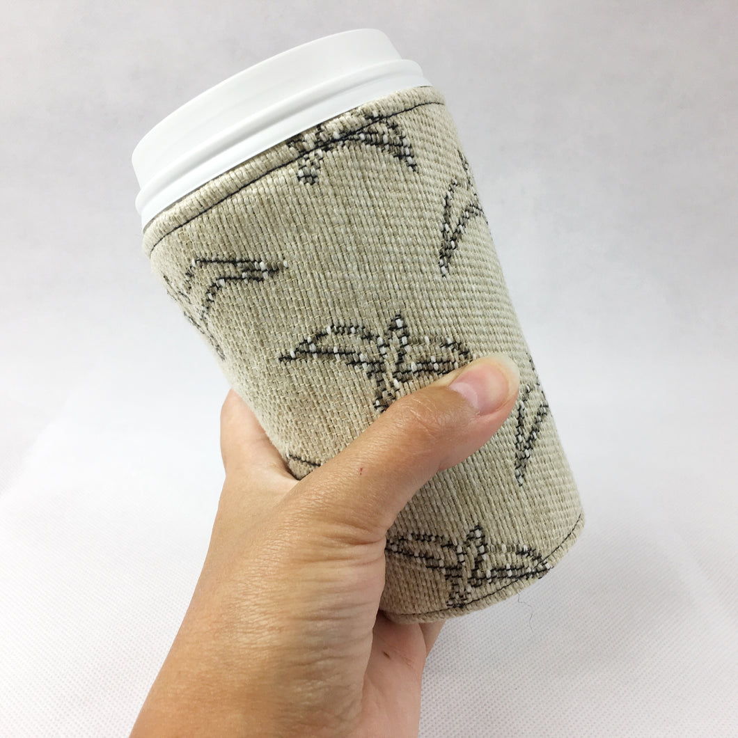 Insulated Coffee Hugger - Aztec Bird Print