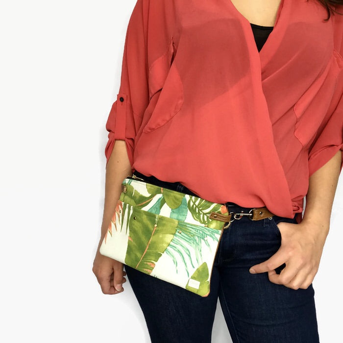 Lily Fanny Pack - Palm leaf print
