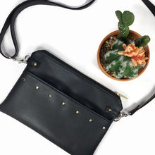 Lily Fanny Pack - Black vegan leather